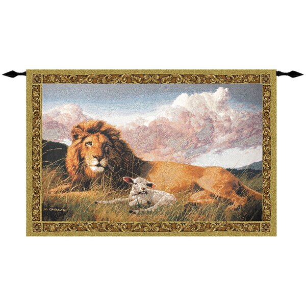 Lion and Lamb Tapestry by Bloomsbury Market