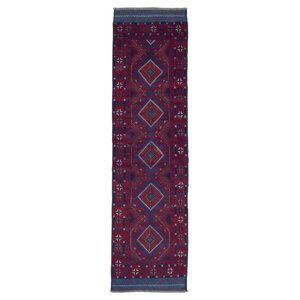 Ainez Baluch Oriental Hand Woven Wool Red Area Rug