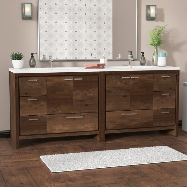 Almendarez 83 Double Bathroom Vanity Set by Langley Street