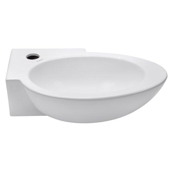 Elite Ceramic 17 Wall Mount Bathroom Sink by Elanti