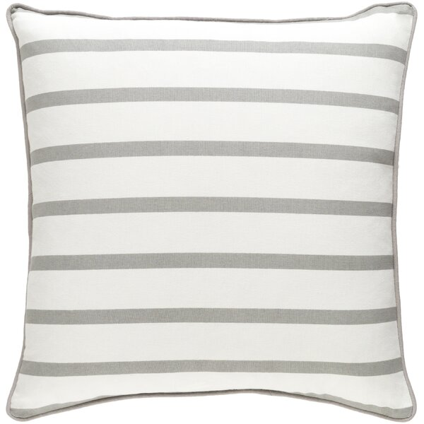 Carnell Mini Stripe Cotton Throw Pillow Cover by Mercury Row