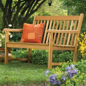Harpersfield Rustic Natural Wood Garden Bench Beachcrest Home