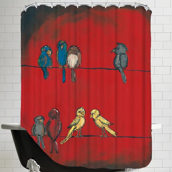 Birds on A Wire Shower Curtain by East Urban Home