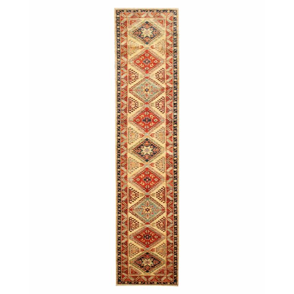 Hand-Knotted Ivory Area Rug by Meridian Rugmakers