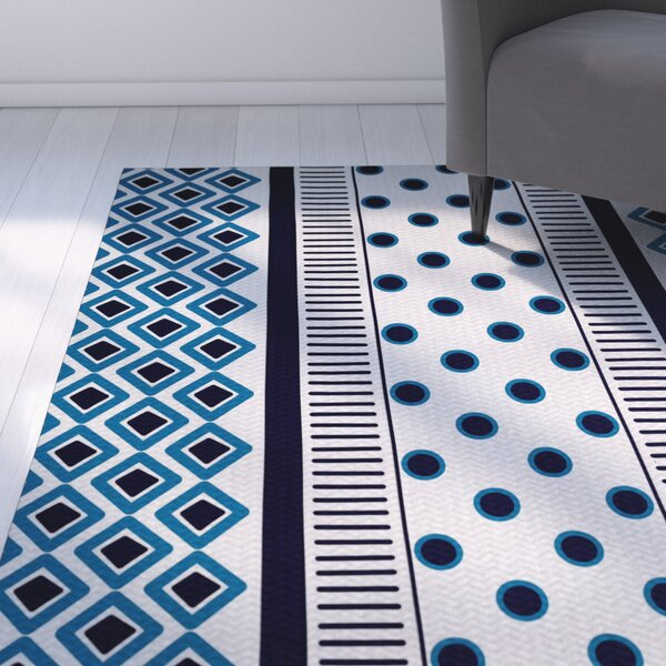 Abbie Blue Indoor/Outdoor Area Rug by Ebern Designs