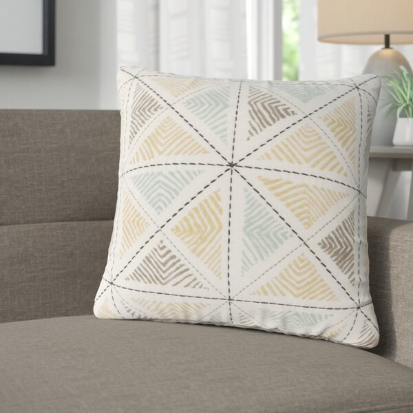 Banach Embroidered Cotton Throw Pillow by Langley Street