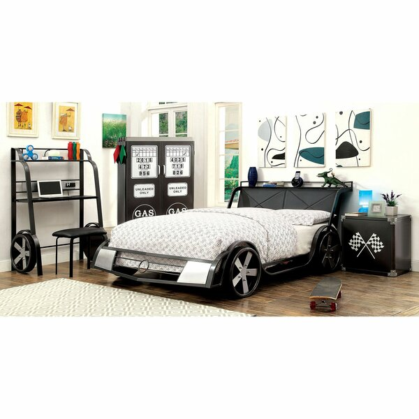 Bromborough Car Bed with Bookcase by Zoomie Kids