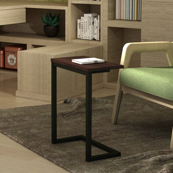 Giddens C-Shape Snack Side End Table By Latitude Run