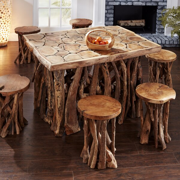Chardon Solid Wood Dining Table by Millwood Pines