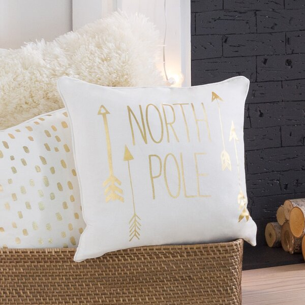 Holiday North Pole Throw Pillow by The Holiday Aisle
