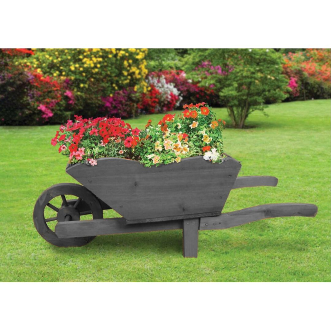 Pickens Wood Wheelbarrow Planter