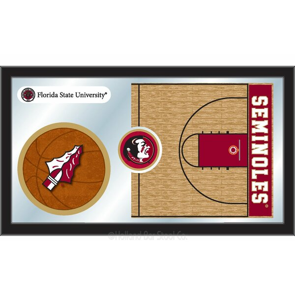 NCAA Basketball Mirror Framed Graphic Art by Holland Bar Stool