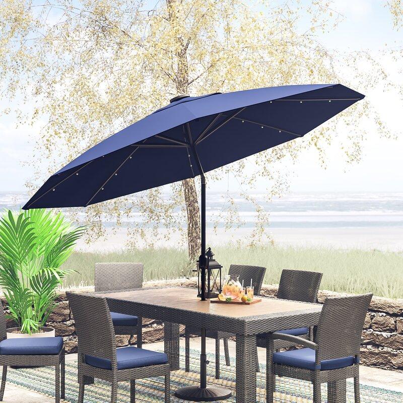 Lighted Umbrella For Patio Amazing Freeport Park Angelica 60' Lighted Umbrella Reviews Wayfair