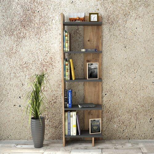 Bücherregal Studley Ebern Designs Farbe: Anthrazit | Wohnzimmer > Regale > Bücherregale | Ebern Designs
