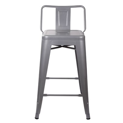 Grey Low Back Counter Height Bar Stools You Ll Love In