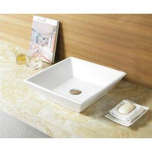 Best Reviews Ceramic Square Vessel Bathroom Sink ByRoyal Purple Bath Kitchen