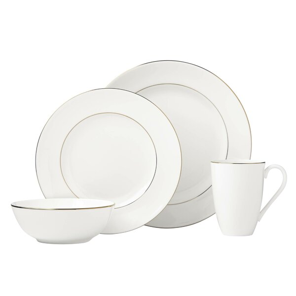 Continental Dining 4 Piece Bone China Place Setting Set, Service for 1 by Lenox