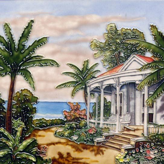Beach House Right Tile Wall Decor by Continental Art Center