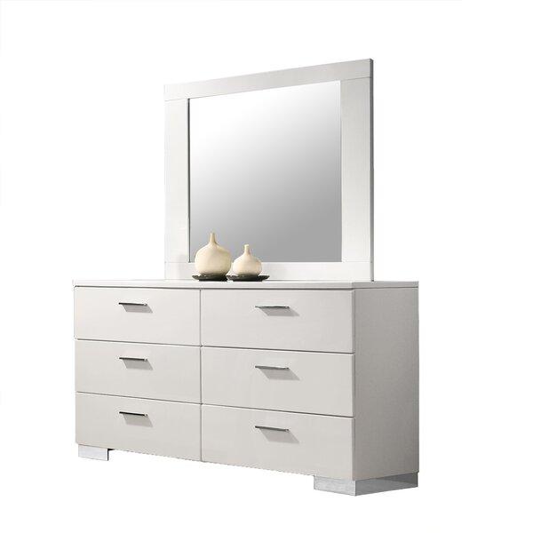 Alysbury 6 Drawer Double Dresser with Mirror by Orren Ellis
