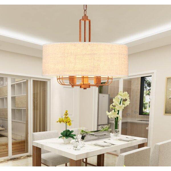 Yamaguchi 3-Light Unique / Statement Drum Chandelier by House of Hampton House of Hampton