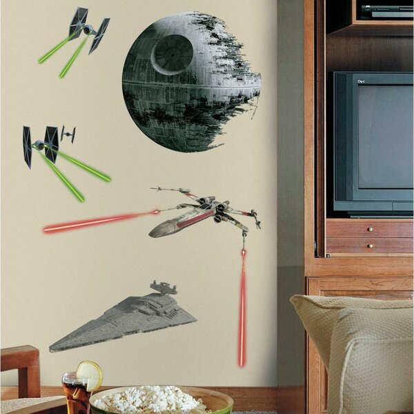 Star Wars Ep VII Classic Ships P and S Giant Wall Decal by Room Mates