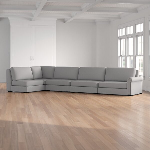 Willia Plush Deep Left Hand Facing Modular Sectional By Three Posts