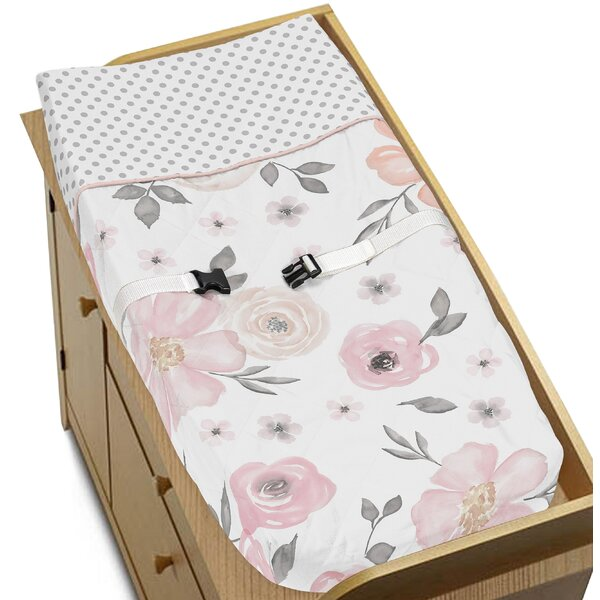 Watercolor Floral Changing Pad Cover by Sweet Jojo Designs