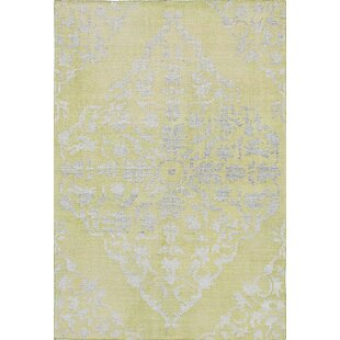 One-of-a-Kind Houston Hand-Knotted 4'5 x 6'7 Emerald Green Area Rug by World Menagerie