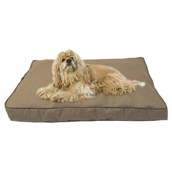 Dane Indoor/Outdoor Dog Bed with Cording in Solid Tan by Tucker Murphy Pet