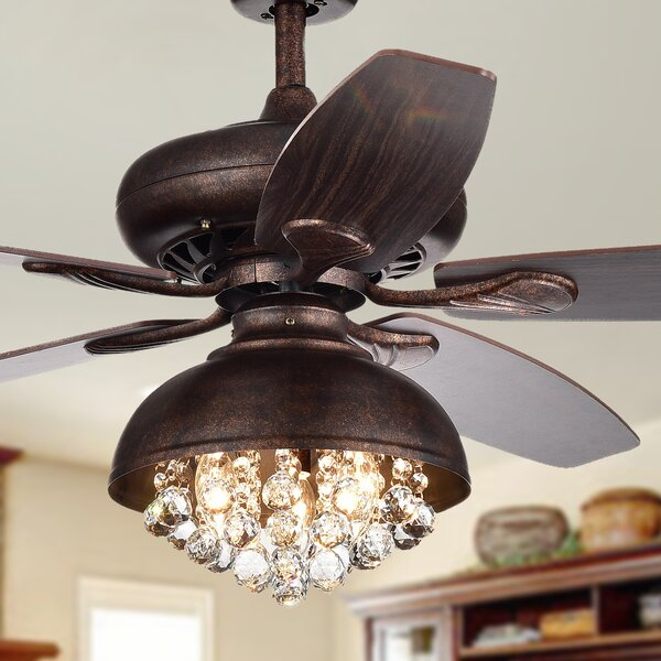 52 Davidson 5 Blade Ceiling Fan with Remote by House of Hampton