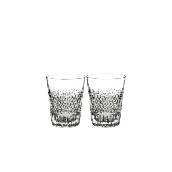Diamond Line Shot 3 oz. Crystal Shot Glass (Set of 2) by Waterford