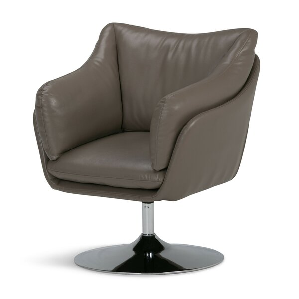 Gustave Swivel Barrel Chair by Orren Ellis