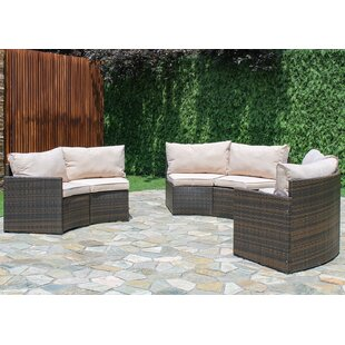 curved patio sofas sectionals you ll love wayfair rh wayfair com outdoor curved sofa with arms outdoor curved sofa white