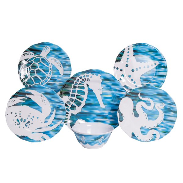 Whitson Melamine 12 Piece Dinnerware Set, Service for 4 by Rosecliff Heights