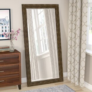 Check Prices Mcmann Beveled Brown Wall Mirror By Three Posts