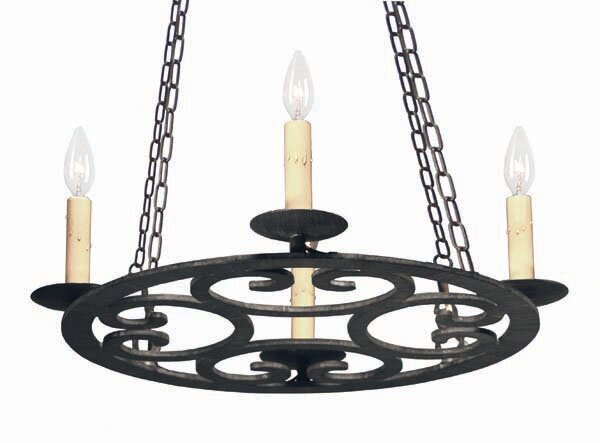 Ashley 4 - Light Candle Style Wagon Wheel Chandelier by 2nd Ave Design 2nd Ave Design