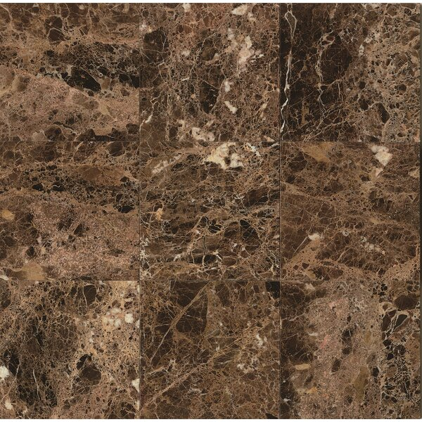 18 x 18 Marble Field Tile in Emperador Dark by Grayson Martin