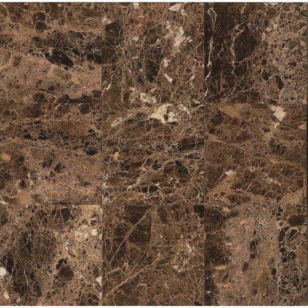 18 x 18 Marble Field Tile in Emperador Dark by Grayson Martin