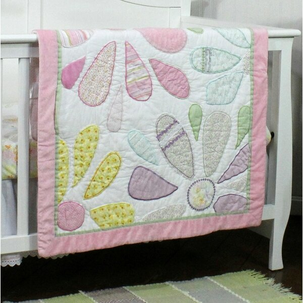 Crazy Daisy All Cotton Baby Quilt by Nurture Imagination