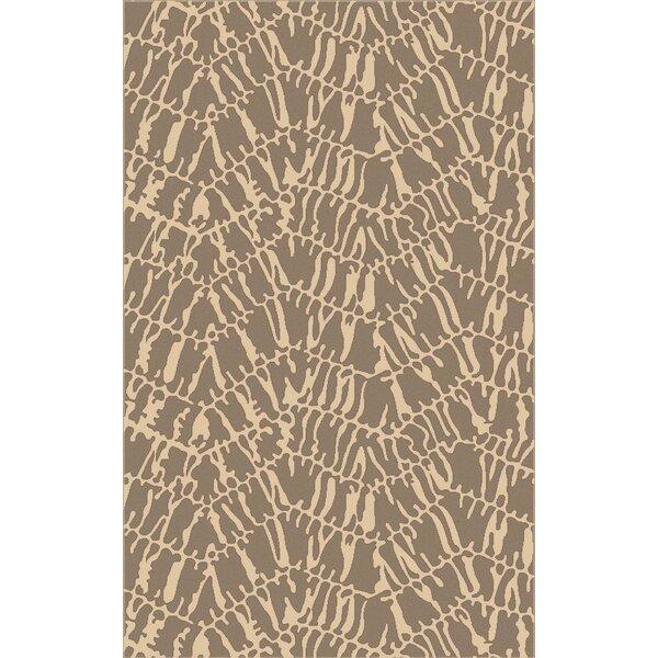 Mathews Hand-Loomed Beige/Slate Area Rug by Bloomsbury Market