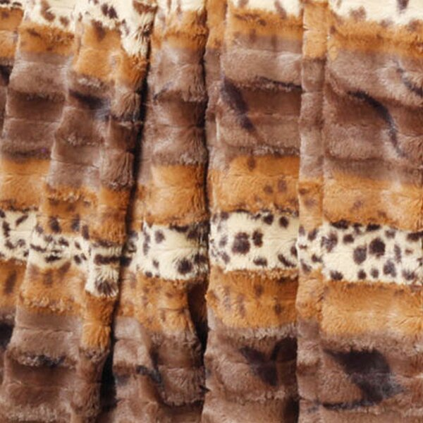 Brushed Leopard Double Sided Faux Fur Throw by BOON Throw & Blanket