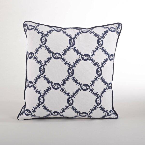 Nantucket Chain Link Cotton Throw Pillow by Saro