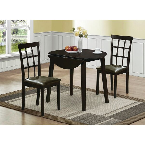Rothe 3 Piece Solid Wood Dining Set by Latitude Run