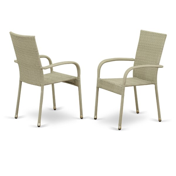 Diamondville Patio Dining Chair with Cushion (Set of 2) by Bay Isle Home Bay Isle Home