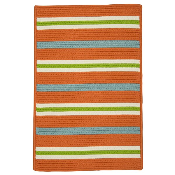 Painter Stripe Tangerine Area Rug by Colonial Mills