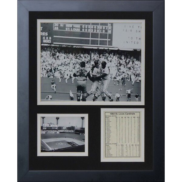 1964 St. Louis Cardinals Celebration Framed Memorabilia by Legends Never Die