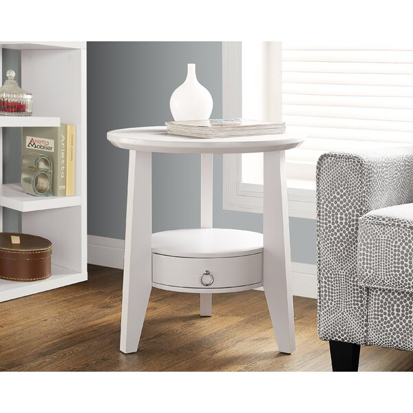 Hewitt End Table With Storage by Breakwater Bay