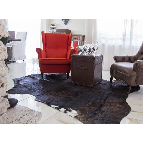 Lakeville Genuine Cowhide Black Area Rug by Union Rustic