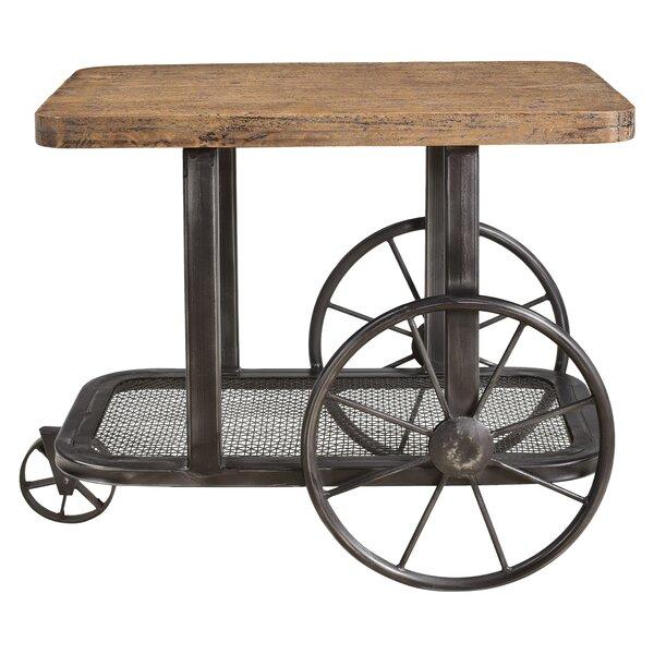 Hessler Wheel End Table by Loon Peak