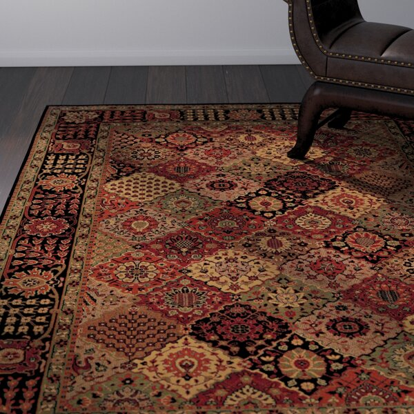 Amsbry Antique Baktiari/Midnight Area Rug by World Menagerie